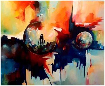 Schilderij Martin Oluwadiran