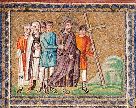 Mozaiek kruis dragen